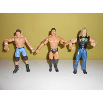 Lote 3 Figuras Jonh Cena Batista Wwe 17 Cms Luchadores