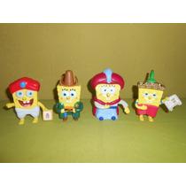 Lote De 4 Figuras Bob Esponja Mcdonalds Burger King