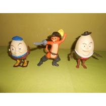 Lote 6 Figuras De El Gato Con Botas De Mcdonalds