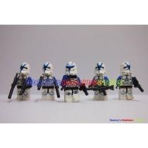 Nueva Minifigure Lote 1 Capitán Rex W 4 X Azul Clone Trooper