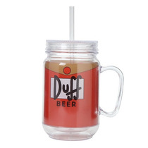 Vaso Duff Beer The Simpsons Homero Acrilico Transparente