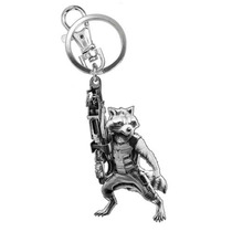 Llavero Rocket Raccoon Marvel Guardianes Galaxia Metal Nuevo