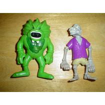 2 Figuras Mountruo Laguna Verde Y Calaca Miden 14 Cms