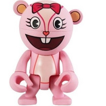 Muñeco Trexi Giggles Rosa Happy Tree Friends Cabeza Gira
