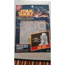 R2 D2 Star Wars Modelo 3d Armable De Acero Corte Laser
