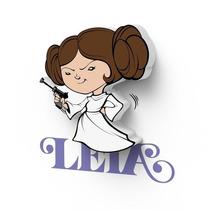 Lampara Star Wars Mini Princesa Leia Led Original De Pared