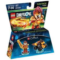 Lego Dimensions Chima Laval Lion Leon Armable Con Espada