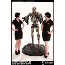 T-800 Endoskeleton Terminator Tamaño Real Sideshow Hot Toys