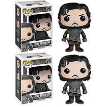 2 Funko Pop Jon Snow + Jon Muddy Lodo Game Of Thrones