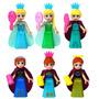 Set Figuras De Frozen Compatibles Con Lego Ana Elsa