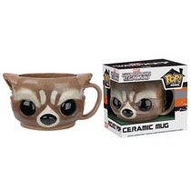 Funko Taza Rocket Raccoon Ceramica Marvel Guardianes Galaxia