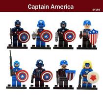 Figuras Capitán América Set De 8 Figuras Para Armar