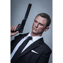 Cabeza Custom Daniel Craig 007 James Bond 1/6 No Hot Toys