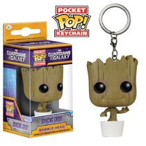 Funko Pop Llavero Dancing Groot Marvel Guardines Galaxia