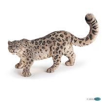 Leopardo De Las Nieves Papo Aniaml Colección Pintado A Mano