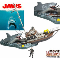 Mcfarlane Movie Maniacs 4 Box Set Jaws Tiburon En Oferta!!