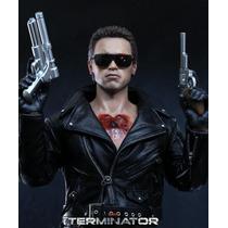 The Terminator Battle Damage Hot Toys Sideshow Ya Disponible