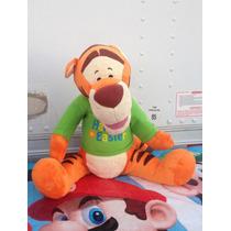 R1 #100 Peluche Winnie Pooh Tiger Mide 53cm De Alto Disney