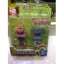 Figura De Minecraft Villager Blacksmith Steve !!!