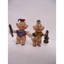Walt Disney 2 Figuras Cochinitos Vintage
