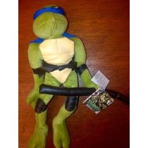 Set 2 Tortugas Ninja De Tela Con Movimient En Piernas..!!