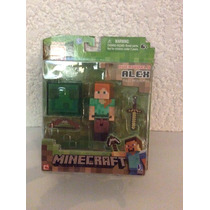 Figura De Minecraft Alex Steve With Diamono Armor !!!