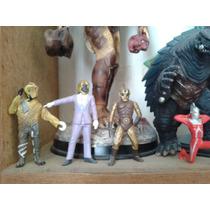Godzilla / Ultraman / Spectremen 3 Figuritas 5 Cms Cada Una