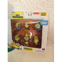 Paquete De Figuras Exclusivas De Minions Miden 6 Cm