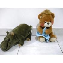 Precio X Ambos Hipopotamo Y Oso Con Frasada De Peluche