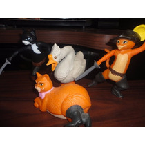 Lote De 3 Figuras Del Gato Con Botas