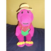 Peluche Barney Habla En Ingles Imita Sonidos Animales 40 Cms