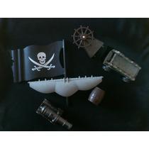 Barco Piratas Del Caribe Perla Negra Lote De Partes