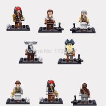 Set De Piratas Del Caribe, Tipo Lego, 8 Figuras