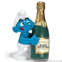 Pitufo Figurita - Schleich Botella Smurfs Cartoon Juegos De