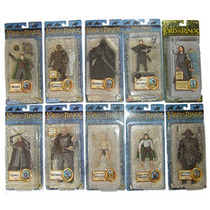 Lord Of The Rings Serie De 10 Fig. Diferentes Serie 7bc