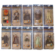 Lord Of The Rings Serie De 10 Fig. Diferentes Serie 6bc