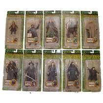 Lord Of The Rings Serie De 10 Fig. Diferentes Serie 2vbc