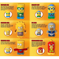 Simpsons Heroes Coleccion 6pza Nuevos Burger King Gamechieff