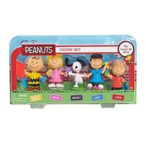 Peanuts Set 5 Figuras Snoopy Lucy Sally Linus Charlie Brown