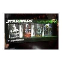Stars Wars Set De 4 Vasos De 16 Oz Nuevos De Colección