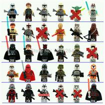 Star Wars 6 Personajes Con Armas, Compatibles Con Lego