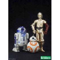 Kotobukiya R2-d2 Y C-3po Con Bb-8 Star Wars Artfx+ Preventa