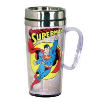 Taza Termo Superman Clasico Dc Comics Insulated Cafe Vaso