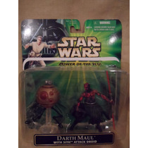 Lote 3fig De Lujo Potf Y Ep1 Darth Maul Attack Droid Obi Wan