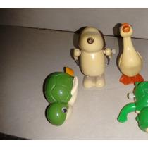 Muñecos De Cuerda (lote De 5 Animalitos/ Año 1977)