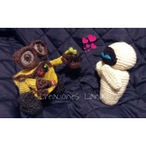 Wall- E & Eve Tejido A Mano Crochet Amigurumi