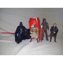 Star Wars Lote Figs Anakin Vader Chewie Windu Leia Vintage