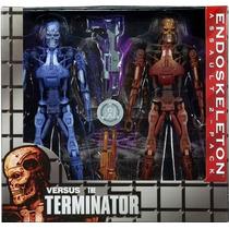 2 Pack Endoskeleton Del Videojuego Robocop Vs Terminator