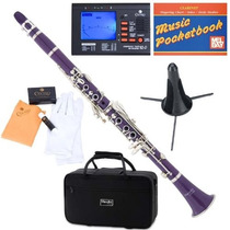 Clarinete Mendini Mct-e Purpura Afinador + Accesorios Vv4
