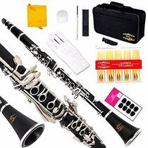 Clarinete Glory B Profesional Negro Instrumento Musical